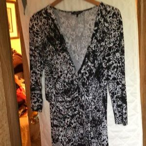 Lafayette 148 black &White Dress